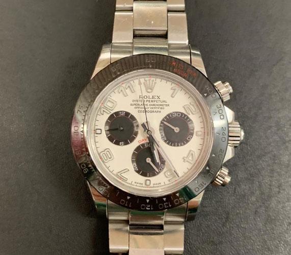 Rolex Uhr, Original, Silber Ziffernblatt, ca. 500 gr. schwer, guter Zustand