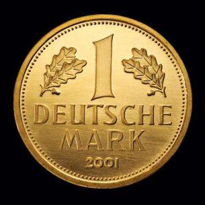 1 Deutsche Mark 2001 Gold