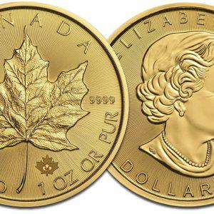 Maple-Leaf-Goldmuenzen